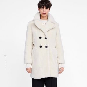 Cream Sherpa Coat